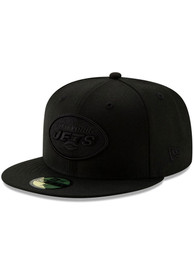 New York Jets New Era on Black 59FIFTY Fitted Hat - Black