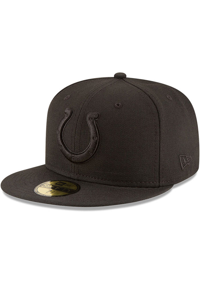Indianapolis Colts New Era on Black 59FIFTY Fitted Hat - Black