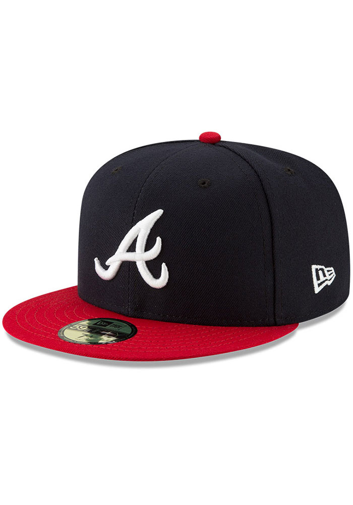 Atlanta Braves New Era AC Home 59FIFTY Fitted Hat - Navy Blue