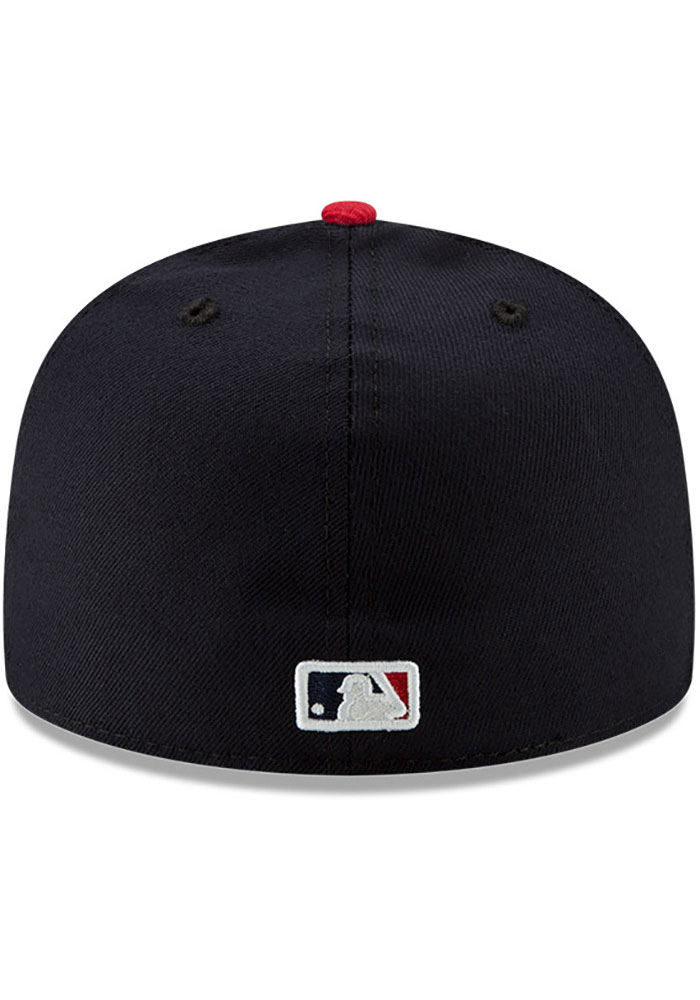 New Era Atlanta Braves Mens Navy Blue AC Home 59FIFTY Fitted Hat - Image 5
