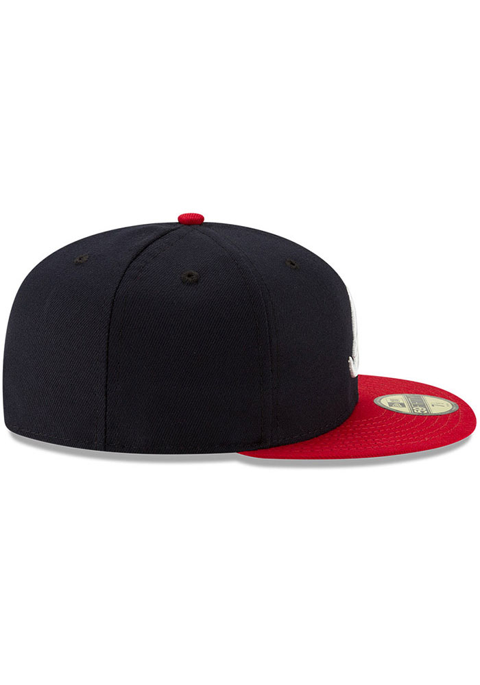 New Era Atlanta Braves Mens Navy Blue AC Home 59FIFTY Fitted Hat - Image 6