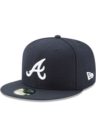 Atlanta Braves New Era AC Road 59FIFTY Fitted Hat - Navy Blue