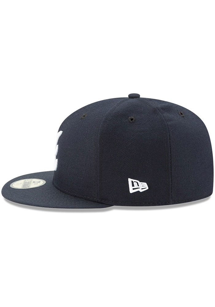 New Era Atlanta Braves Mens Navy Blue AC Road 59FIFTY Fitted Hat - Image 4