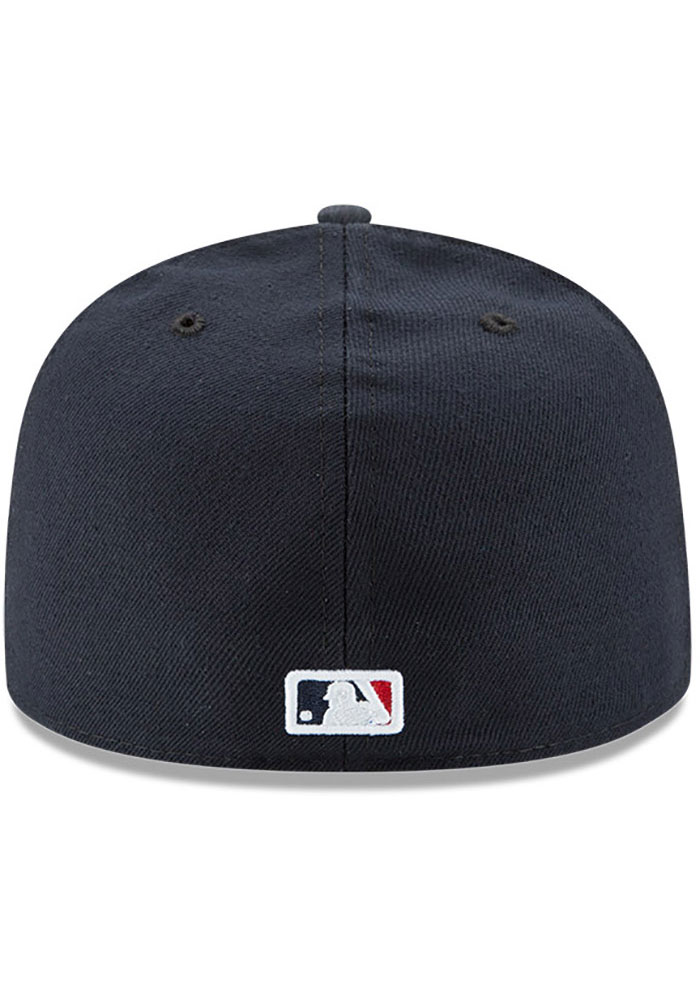 New Era Atlanta Braves Mens Navy Blue AC Road 59FIFTY Fitted Hat - Image 5