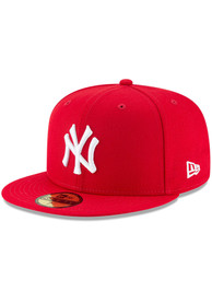 New York Yankees New Era Basic 59FIFTY Fitted Hat - Red