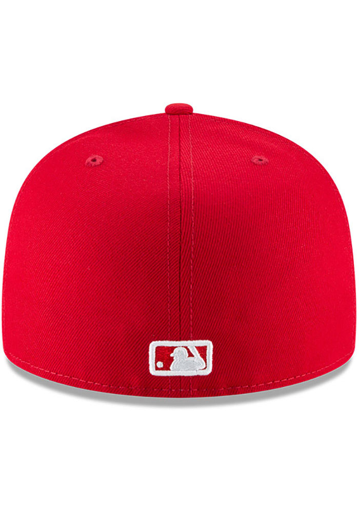 New Era Los Angeles Dodgers Mens Red Basic 59FIFTY Fitted Hat - Image 5