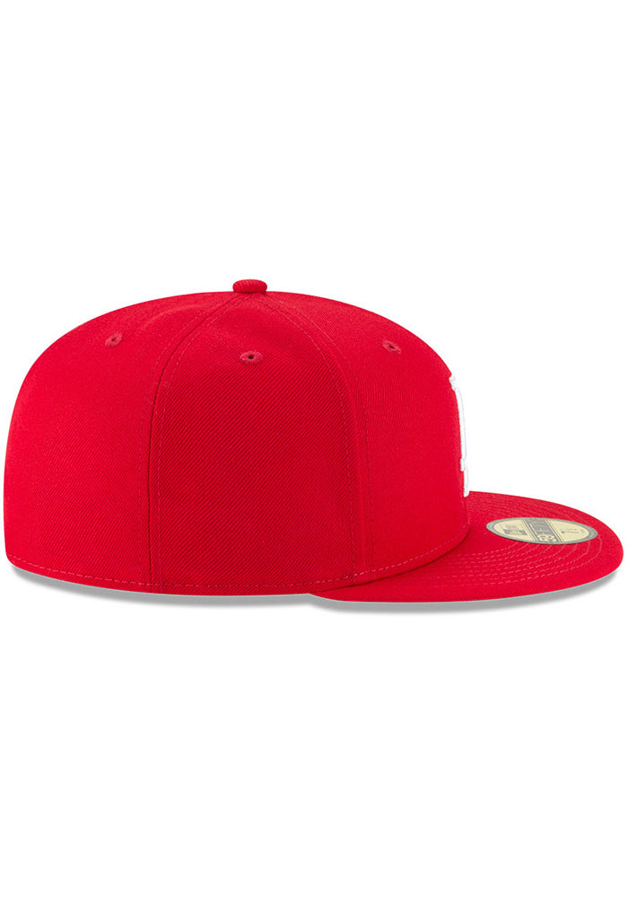 New Era Los Angeles Dodgers Mens Red Basic 59FIFTY Fitted Hat - Image 6
