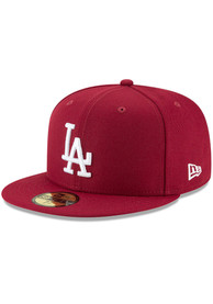 Los Angeles Dodgers New Era Basic 59FIFTY Fitted Hat - Maroon