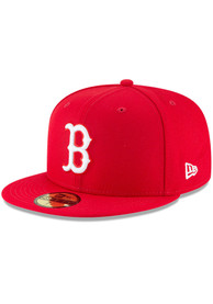 Boston Red Sox New Era Basic 59FIFTY Fitted Hat - Red