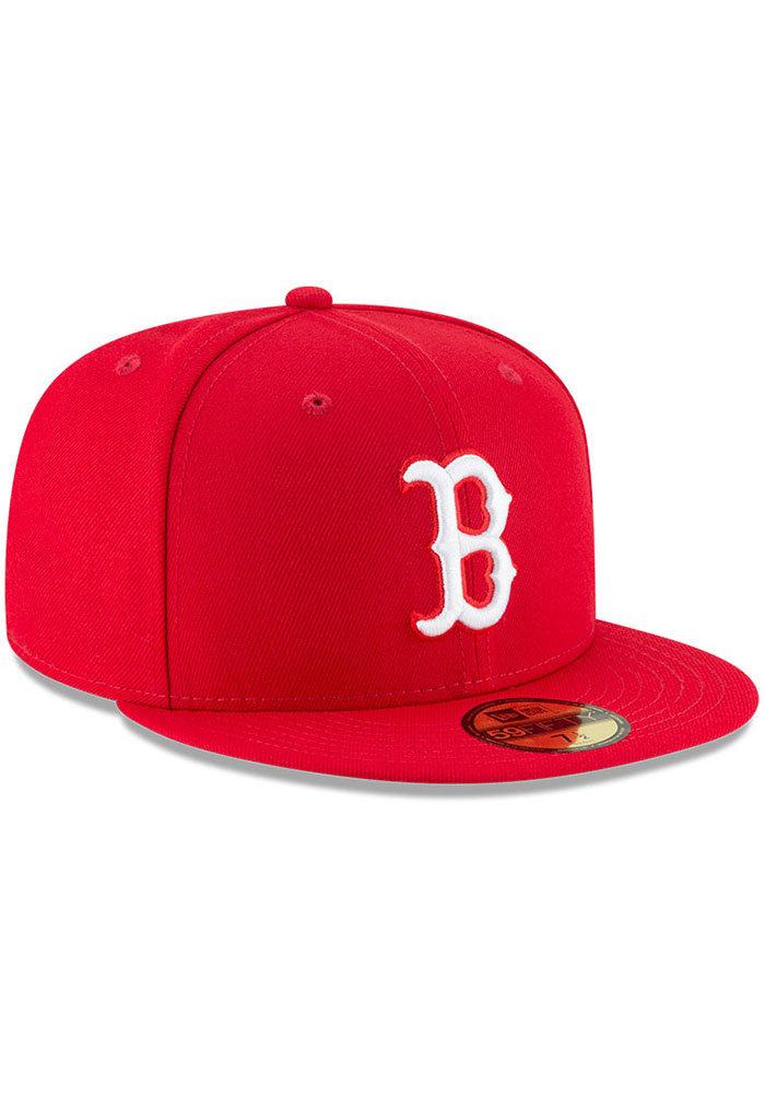 New Era Boston Red Sox Mens Red Basic 59FIFTY Fitted Hat - Image 2