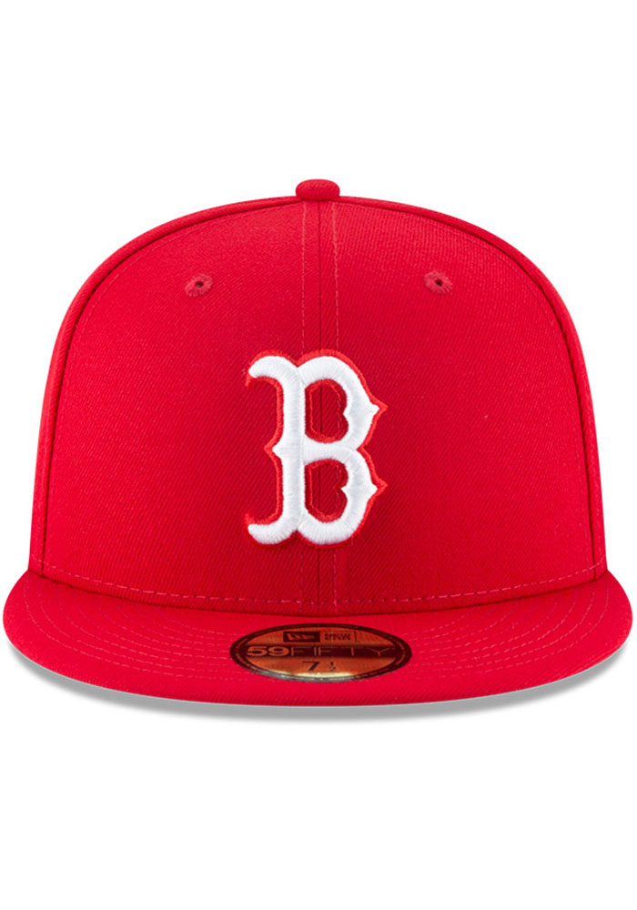 New Era Boston Red Sox Mens Red Basic 59FIFTY Fitted Hat - Image 3
