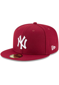 New York Yankees New Era Basic 59FIFTY Fitted Hat - Maroon