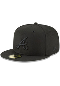 Atlanta Braves New Era on Black 59FIFTY Fitted Hat - Black
