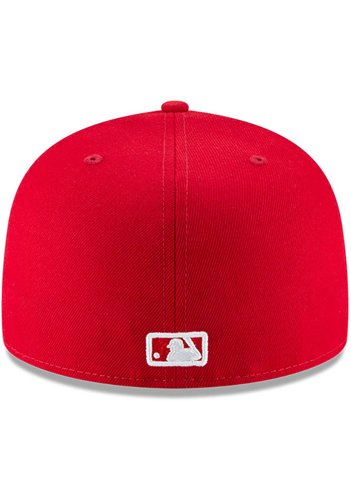 New Era Atlanta Braves Mens Red Basic 59FIFTY Fitted Hat - Image 5