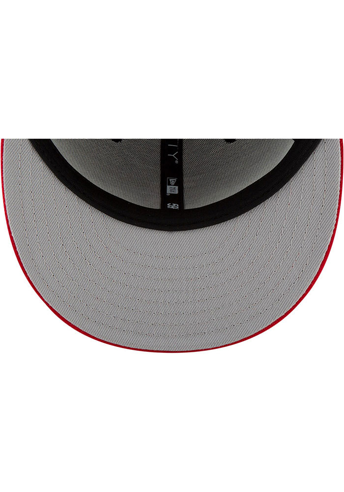 New Era Atlanta Braves Mens Red Basic 59FIFTY Fitted Hat - Image 7
