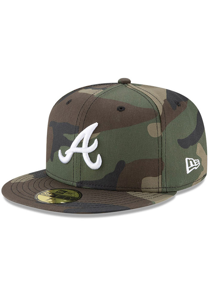 Atlanta Braves New Era Basic 59FIFTY Fitted Hat - Green