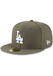 New Era Los Angeles Dodgers Mens Olive Basic 59FIFTY Fitted Hat