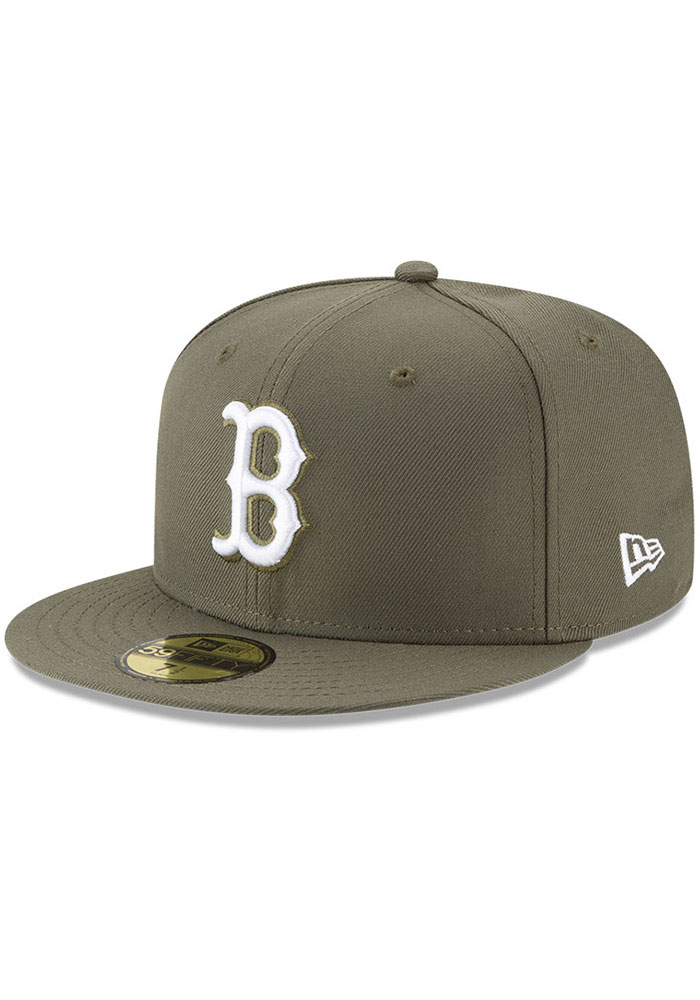 Boston Red Sox New Era Basic 59FIFTY Fitted Hat - Olive