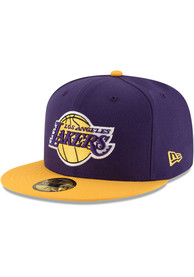 Los Angeles Lakers New Era 2T 59FIFTY Fitted Hat - Purple