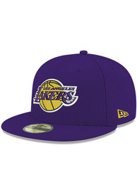 Los Angeles Lakers New Era Basic 59FIFTY Fitted Hat - Purple