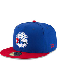 Philadelphia 76ers New Era 2T 59FIFTY Fitted Hat - Blue