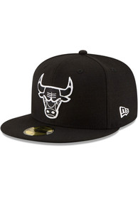 Chicago Bulls New Era and White 59FIFTY Fitted Hat - Black