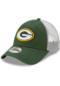 Green Bay Packers New Era Trucker 9FORTY Adjustable Hat - Green