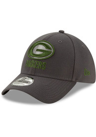 Green Bay Packers New Era Team Classic 39THIRTY Flex Hat - Grey