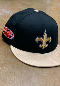New Orleans Saints New Era Super Bowl XLIV Side Patch 59FIFTY Fitted Hat - Black
