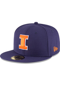 Illinois Fighting Illini New Era Basic 59FIFTY Fitted Hat - Navy Blue