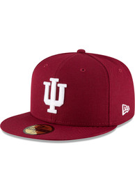 Indiana Hoosiers New Era Basic 59FIFTY Fitted Hat - Crimson