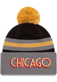 Chicago Bulls New Era 2020 Official City Series Cuff Knit - Charcoal