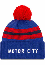 Detroit Pistons New Era 2020 Official City Series Cuff Knit - Blue