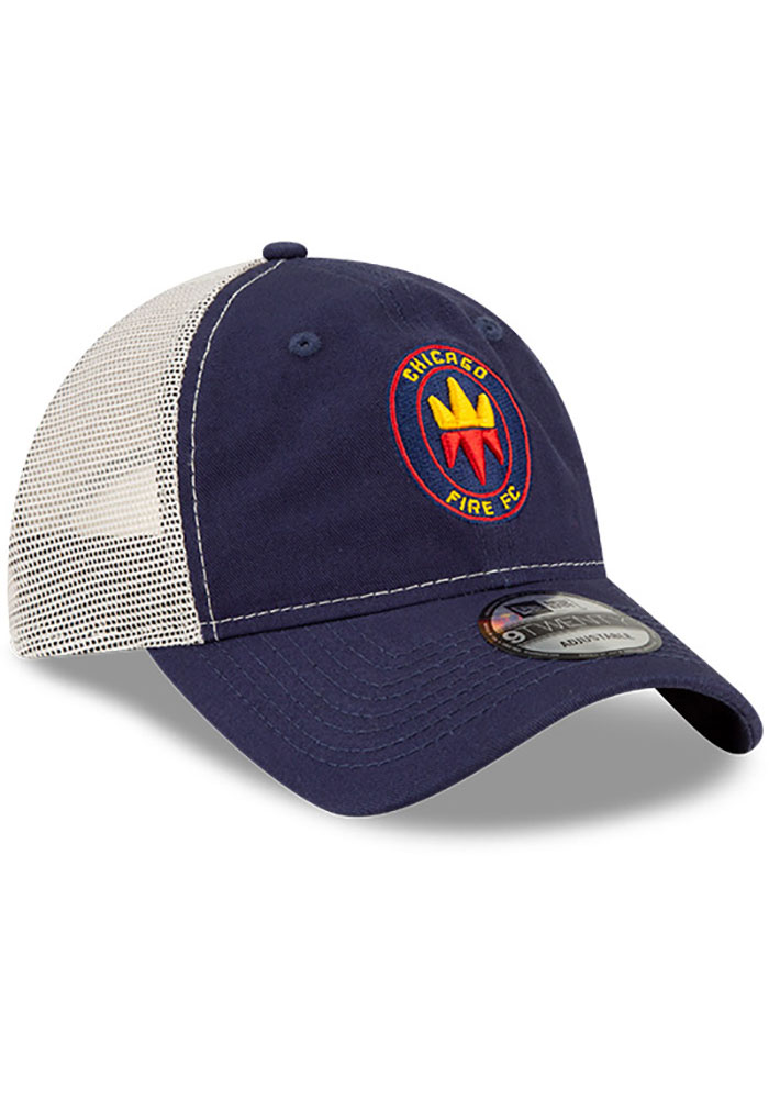 New Era Chicago Fire Casual Classic Meshback Adjustable Hat - Navy Blue - Image 2