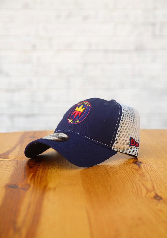 New Era Chicago Fire Casual Classic Meshback Adjustable Hat - Navy Blue - Image 7