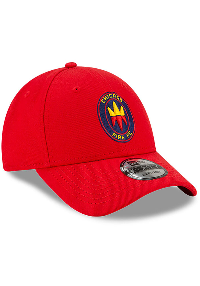 New Era Chicago Fire Secondary 9FORTY Adjustable Hat - Red - Image 2