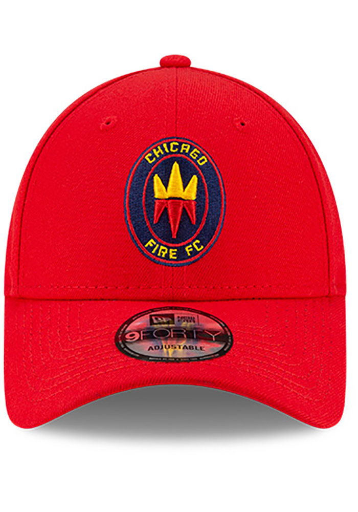New Era Chicago Fire Secondary 9FORTY Adjustable Hat - Red - Image 3