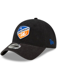 FC Cincinnati New Era Core Classic 9TWENTY Adjustable Hat - Black