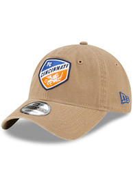 FC Cincinnati New Era Core Classic 9TWENTY Adjustable Hat - Khaki