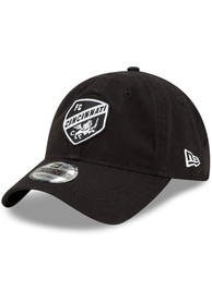 FC Cincinnati New Era and White Core Classic 9TWENTY Adjustable Hat - Black