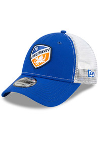 FC Cincinnati New Era Team Truckered 9FORTY Adjustable Hat - Blue