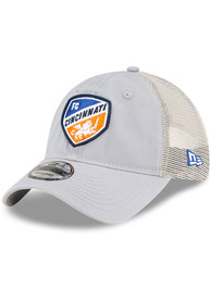 FC Cincinnati New Era Casual Classic Meshback Adjustable Hat - Grey