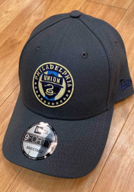 Philadelphia Union New Era Secondary 9FORTY Adjustable Hat - Grey