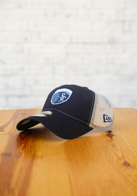 Sporting Kansas City New Era Casual Classic Meshback Adjustable Hat - Navy Blue