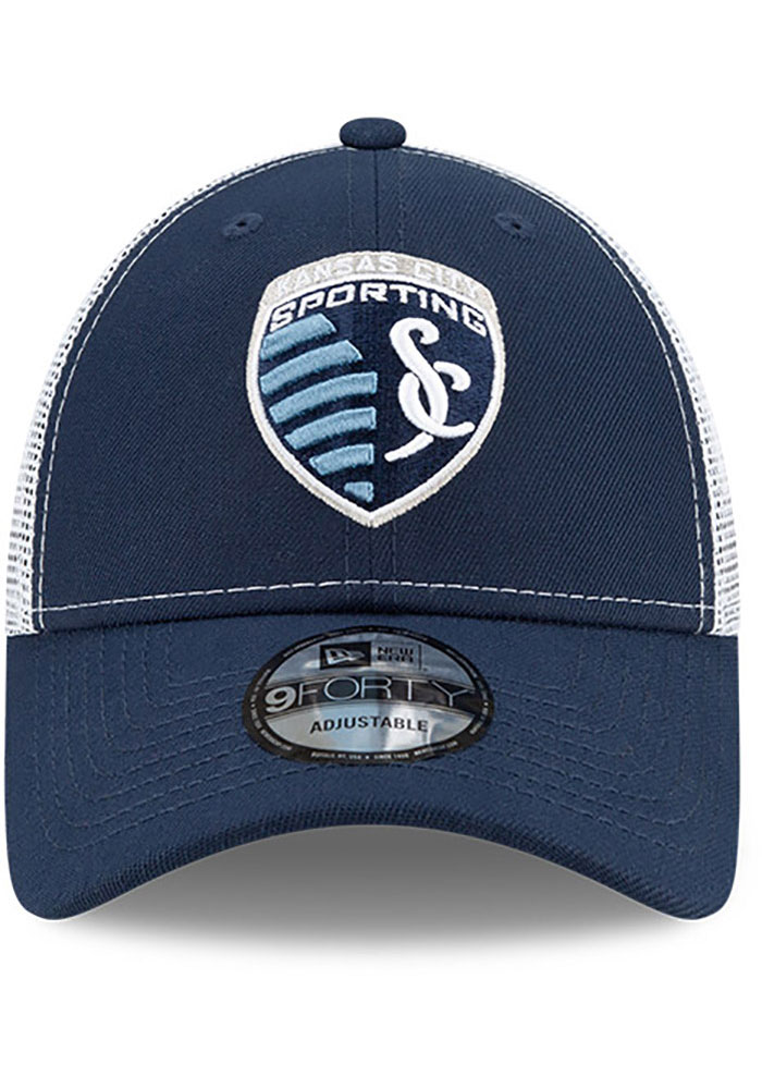 New Era Sporting Kansas City Team Truckered 9FORTY Adjustable Hat - Navy Blue - Image 3
