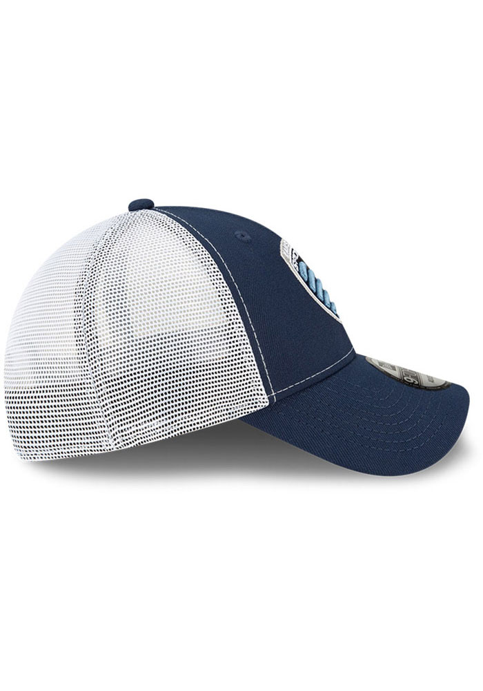 New Era Sporting Kansas City Team Truckered 9FORTY Adjustable Hat - Navy Blue - Image 6