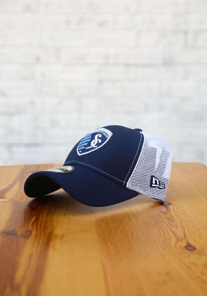 New Era Sporting Kansas City Team Truckered 9FORTY Adjustable Hat - Navy Blue - Image 7