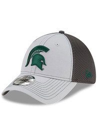 Michigan State Spartans New Era Grayed Out Neo 39THIRTY Flex Hat - Grey