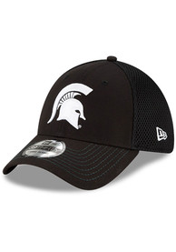 Michigan State Spartans New Era and White Neo 39THIRTY Flex Hat - Black