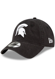 Michigan State Spartans New Era and White Core Classic 9TWENTY Adjustable Hat - Black